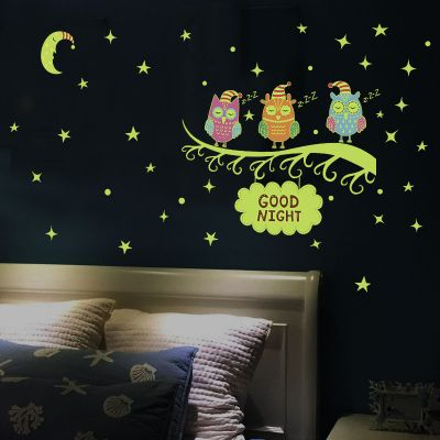 Sticker perete Glow in the Dark Owls