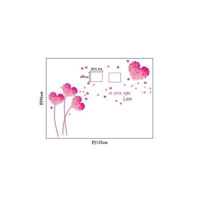 Sticker perete Love is in the air 125 x 96 cm (foto 14,5 x 12 cm)