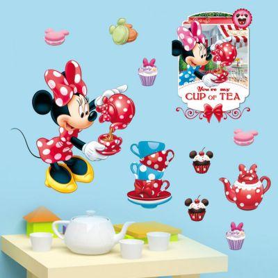 Sticker perete Minnie Tea Party