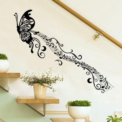 Sticker perete Music butterfly