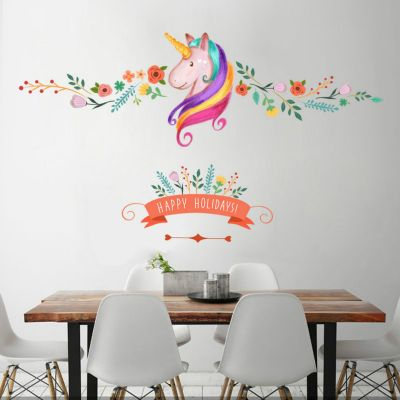 Sticker perete Rainbow Unicorn