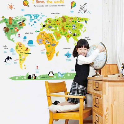 Sticker perete World Map