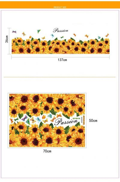 Sticker Sunflowers perete / geam