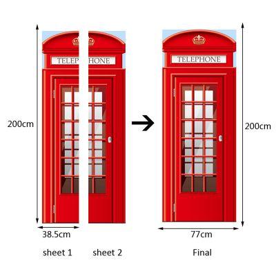 Sticker usa London is calling 38.5 x 200 cm x 2 coli