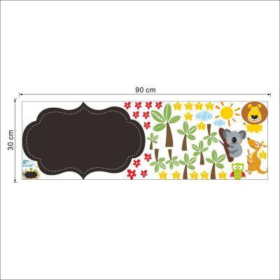 Sticker perete Tabla de scris animale