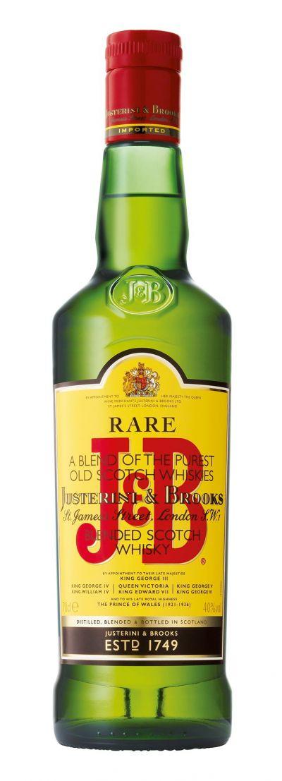 Whisky J&B Scotch 0.7L + 2 Pahar