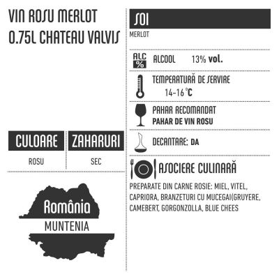 Vin rosu Merlot 0.75l Chateau Valvis