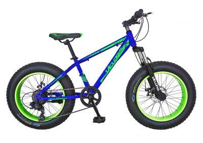 Bicicleta Fat Bike VELORS, V2019B, cadru otel, culoare albastru / verde