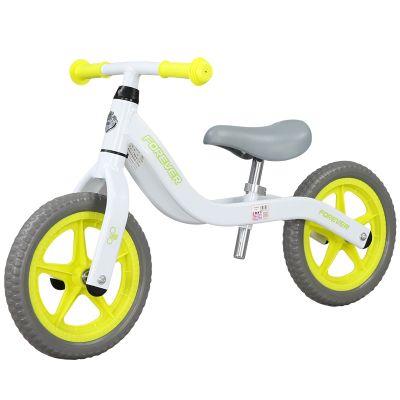 Bicicleta fara pedale (pedagogica) Forever Balance Bike, scaun reglabil, Alb/ Galben