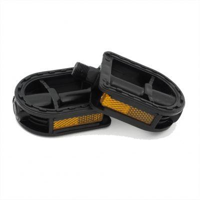 Pedale plastic negre RT-480013, ax mic, 9/16