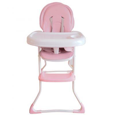 Scaun de masa copii Montasen High Chair, reglabil, 6-36 luni, Roz