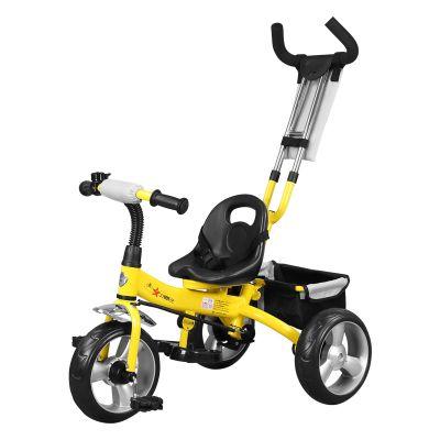 Tricicleta pentru copii Forever Tricycle cu maner parental, Galben