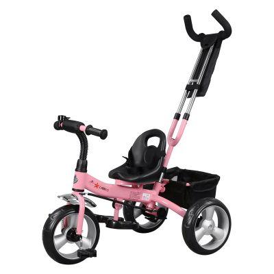 Tricicleta pentru copii Forever Tricycle cu maner parental, Roz