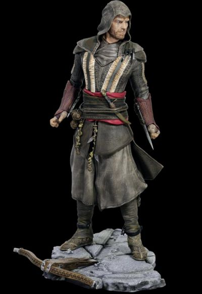 ASSASSIN'S CREED MOVIE FASSBENDER AGUILAR FIGURINE
