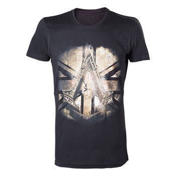 ASSASSINS CREED SYNDICATE BRITISH FLAG BLACK TSHIRT L