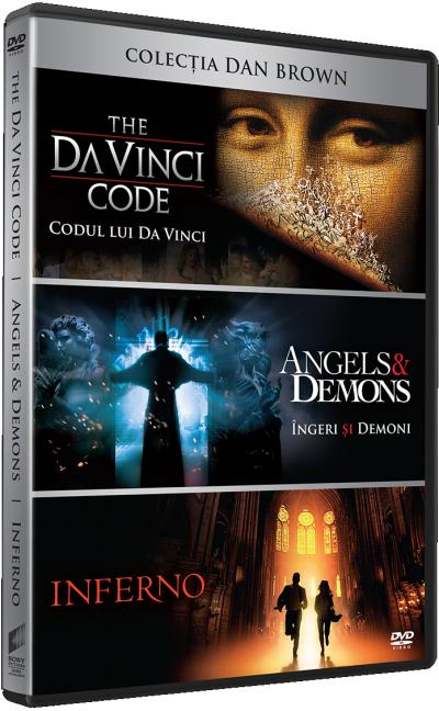 Colectia Dan Brown (Codul lui DaVinci / The DaVinci Code, Ingeri si Demoni / Angels & Demons, Inferno) - DVD