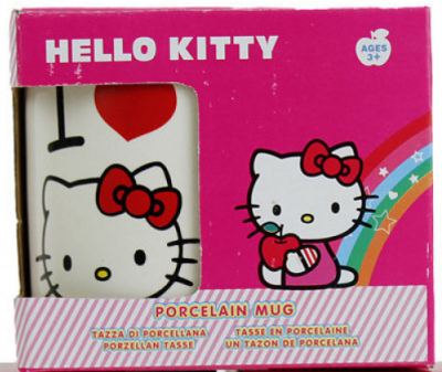 Cana portelan Hello Kitty (pisicuta si inimioara)