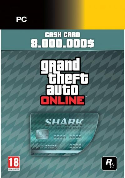 GRAND THEFT AUTO V MEGALODON CARD (SOCIAL CLUB CODE)