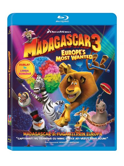 Madagascar 3: Fugariti prin Europa / Madagascar 3: Europes Most Wanted - BLU-RAY