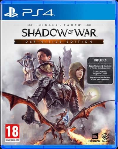 MIDDLE EARTH SHADOW OF WAR DEFINITIVE EDITION - PS4