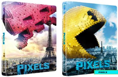 Pixels: O aventura digitala / Pixels - BLU-RAY 3D + DVD (Steelbook)