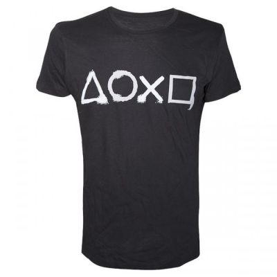 PLAYSTATION BUTTONS TSHIRT S