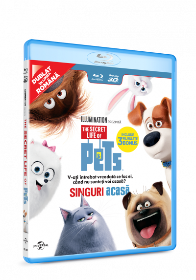 Singuri acasa / The Secret Life of Pets - BLU-RAY 3D+2D
