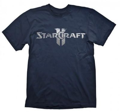 STARCRAFT 2 STARCRAFT LOGO SILVER TSHIRT XL