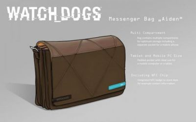 WATCH DOGS HACKER NFC MESSENGER BAG