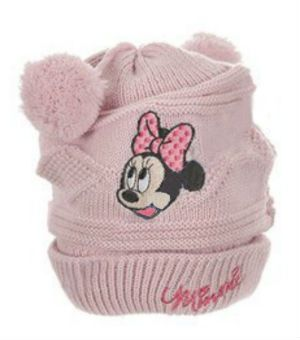 Boneta Minnie bebe-Roz