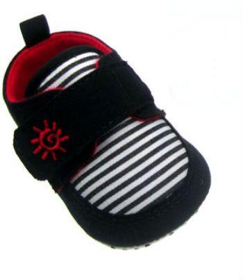 Adidasi dungi cu velcro-Negru/Rosu