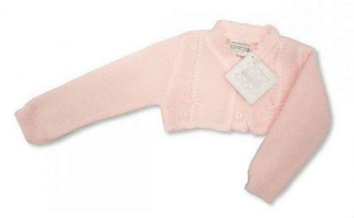 Bolero tricotat bebe-Roz