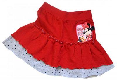 Fusta Minnie Mouse-Rosu/Gri Rosu 2-3ani(92-98cm)