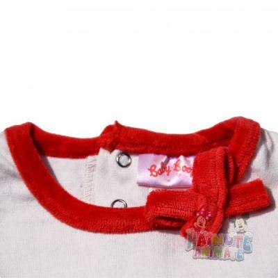 Set Bluza ML-pantalon bebe Betty-Rosu
