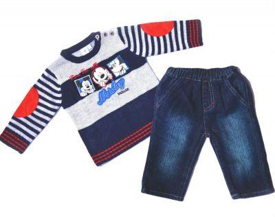 Set pulover-blug Mickey-Bleumarin