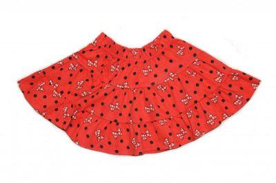 Set tricou MS + fusta MINNIE-Alb/Rosu