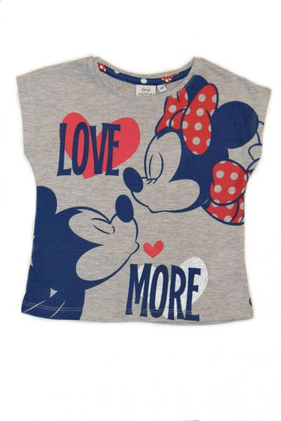 Set tricou MS + fusta MINNIE-Gri/Bleumarin