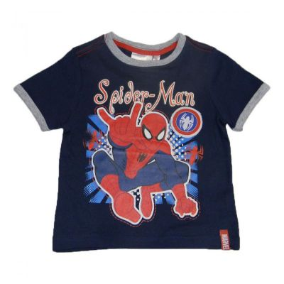 Set  tricou ms-PS Spiderman-Bleumarin