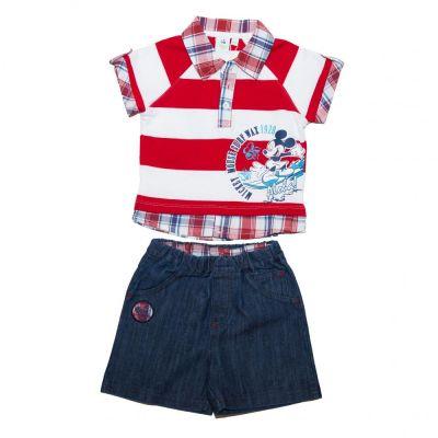 Set tricou+ps blug Mickey-Rosu