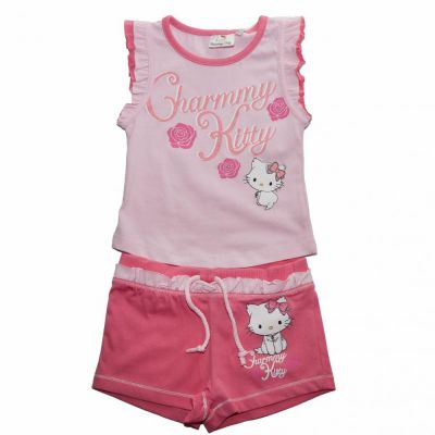Set tricou/sort Charmmy Kitty Roz 5ani(110cm)