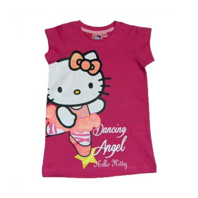 Tricou Lung MS Kitty -Fuchsia Fuchsia 4ani(104cm)