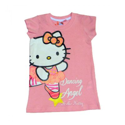 Tricou Lung MS Kitty -Roz Roz 8ani(128cm)
