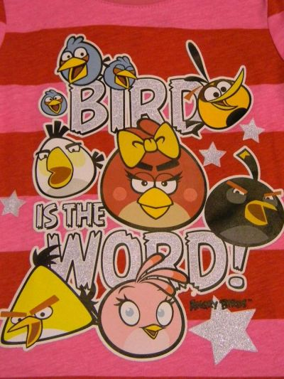 Tricou ML Angry Birds Rosu 4ani(104cm)