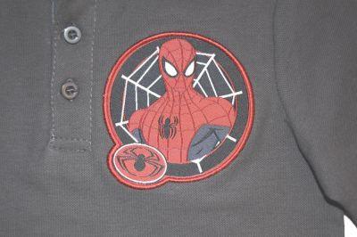 Tricou ML  Polo  Spider-Gri inchis