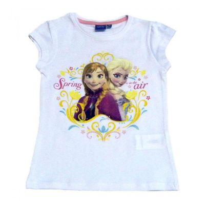 Tricou MS Frozen-Alb Alb 5ani(110cm)