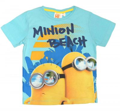 Tricou MS Minions-Turcoaz