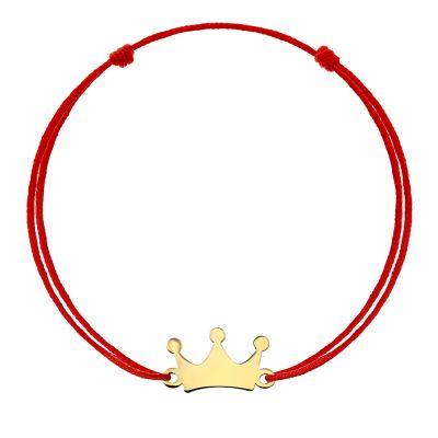Bratara Coronita din Aur aur galben copil rosu