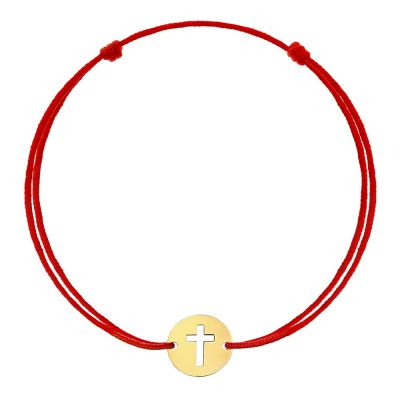 Bratara Cruce Decupata din Aur