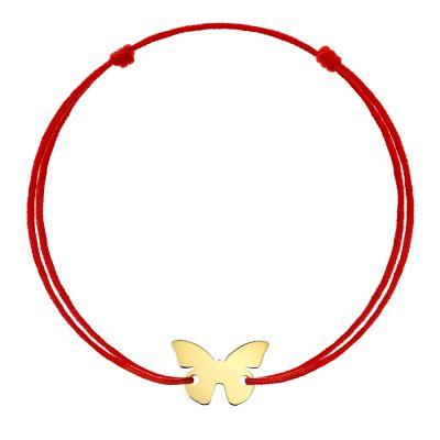 Bratara Fluture din Aur aur galben copil roz