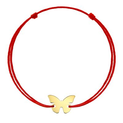 Bratara Fluture din Aur aur galben femeie rosu